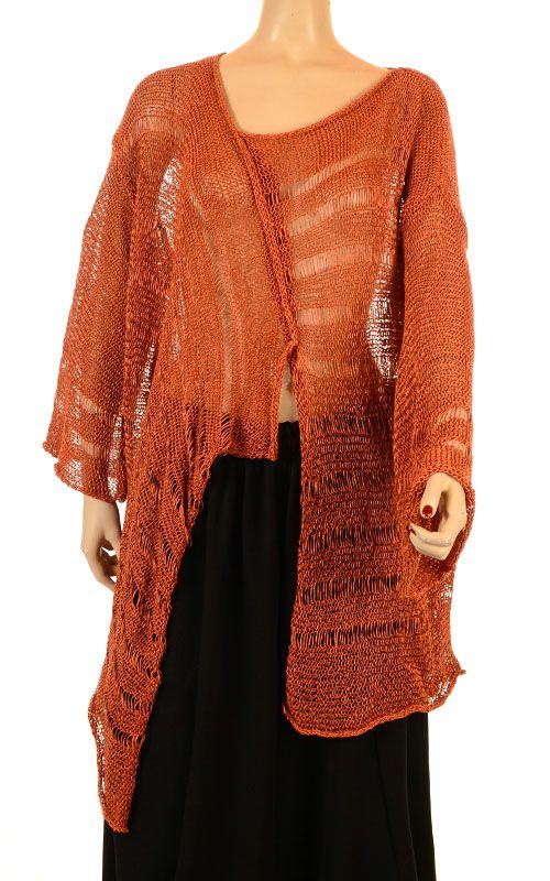 Sarah Santos Filigrane Burnt Orange Fluid-Knit-Sarah Santos ...
