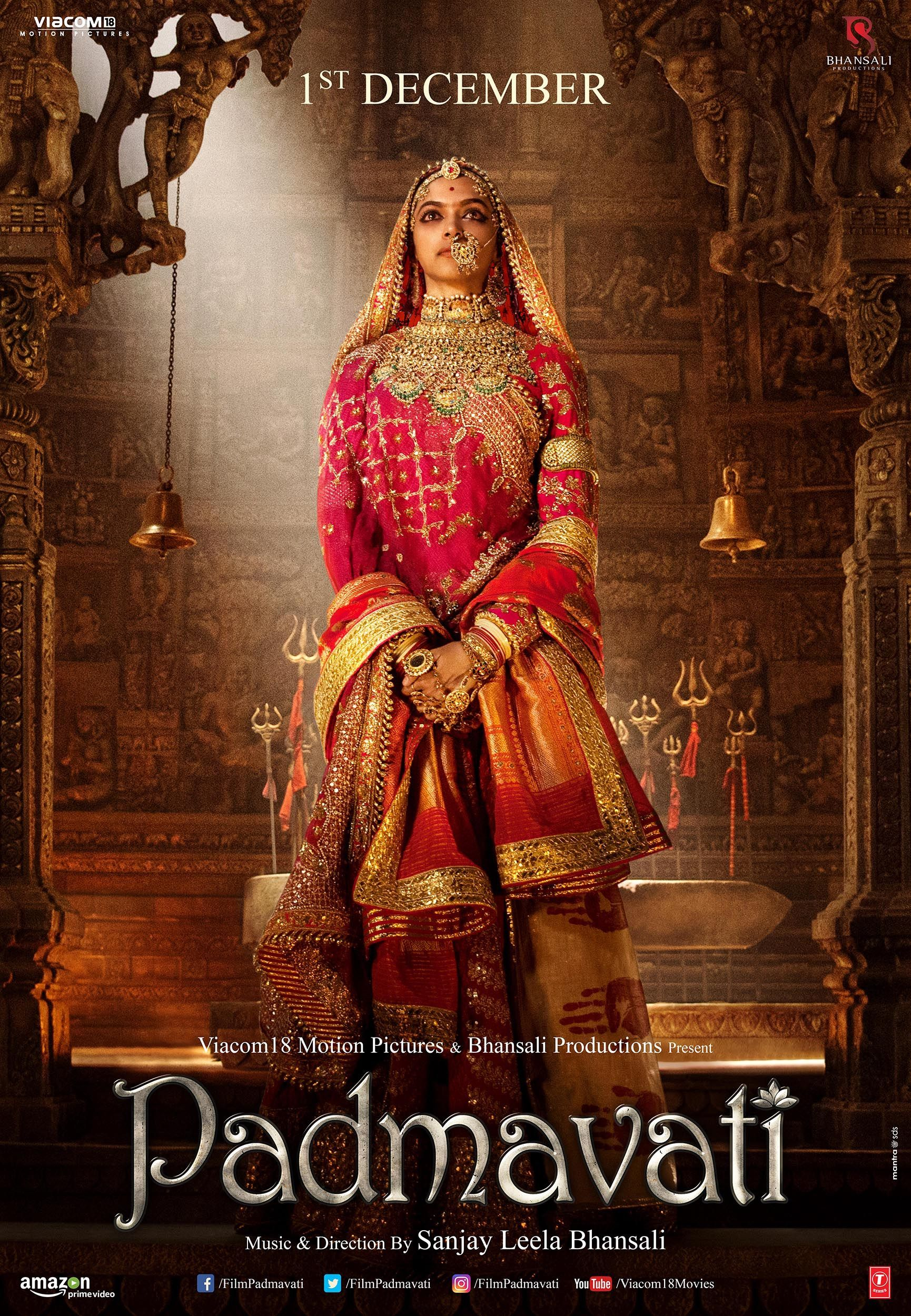 Padmavati Poster 1 Full Size Poster Image Goldposter Download Movies Full Movies Online Free Full Movies Download