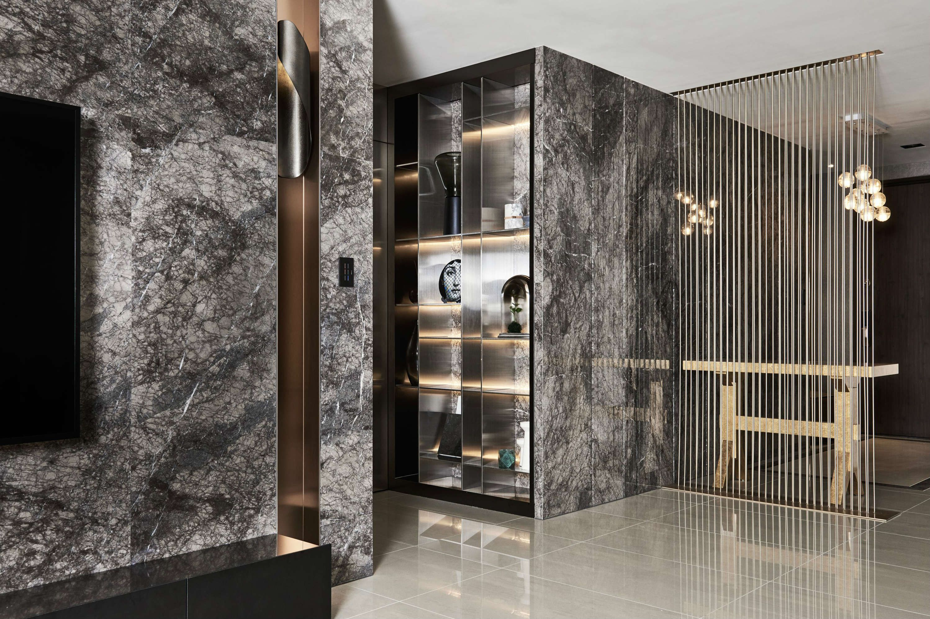 A Luxury Apartment In Taiwan Makes A Statement In Marble With