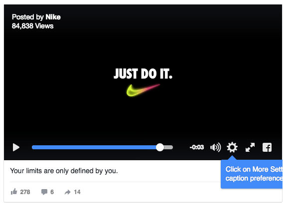 Don't forget to add captions to your video ads as most
