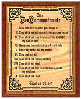 Create This Beautiful Ten Commandments Plaque For Your Home