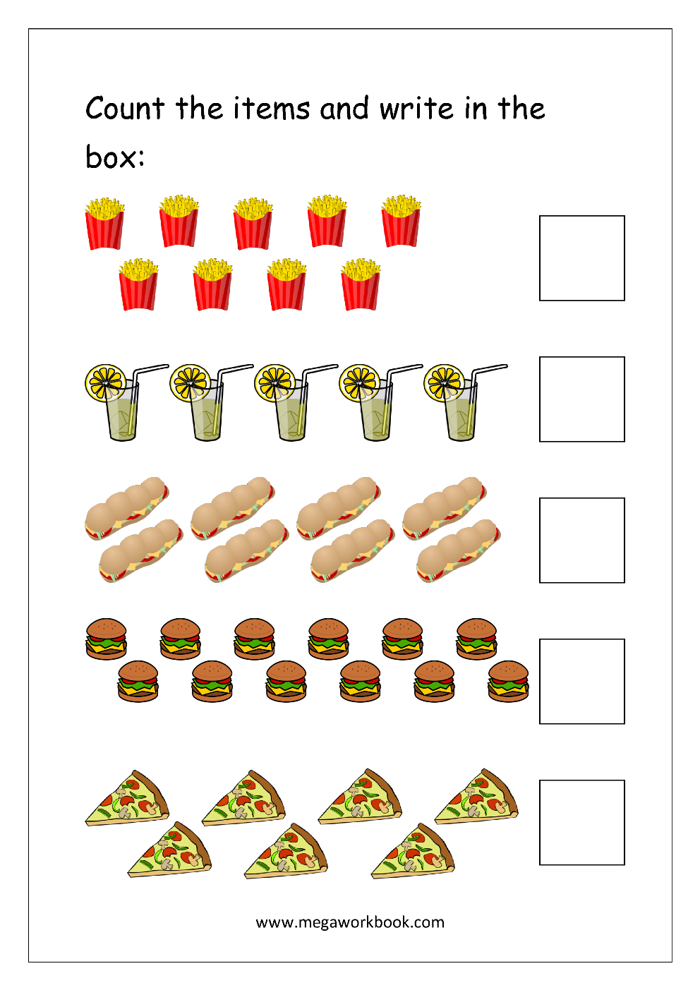 Number Counting Worksheets Count And Write Numbers