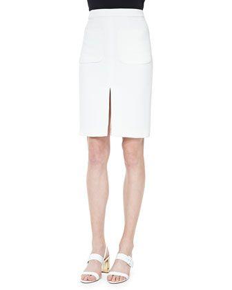 L'Agence Two-Pocket Slit Pencil Skirt