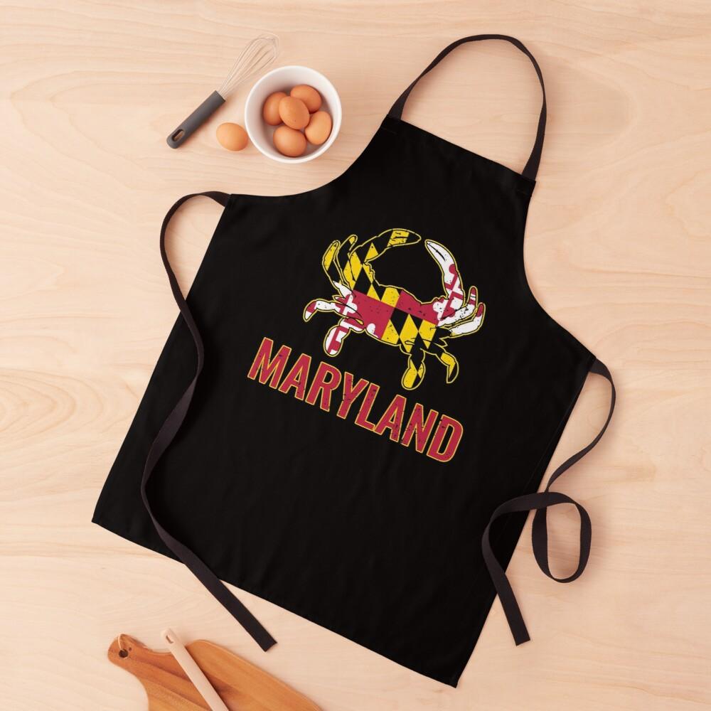 Maryland Flag Maryland State Crab Flag Apron By Vintagemashup In 2020 Maryland Flag Maryland Apron