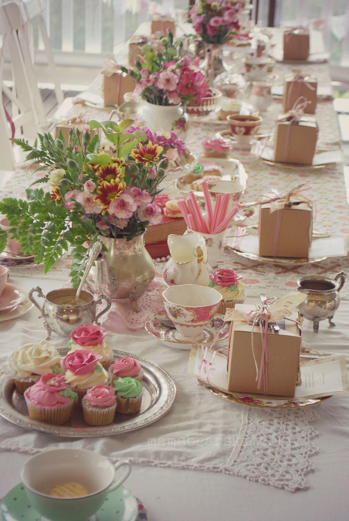 Beautiful High Tea Setting And I Love The Musk Sticks Idea