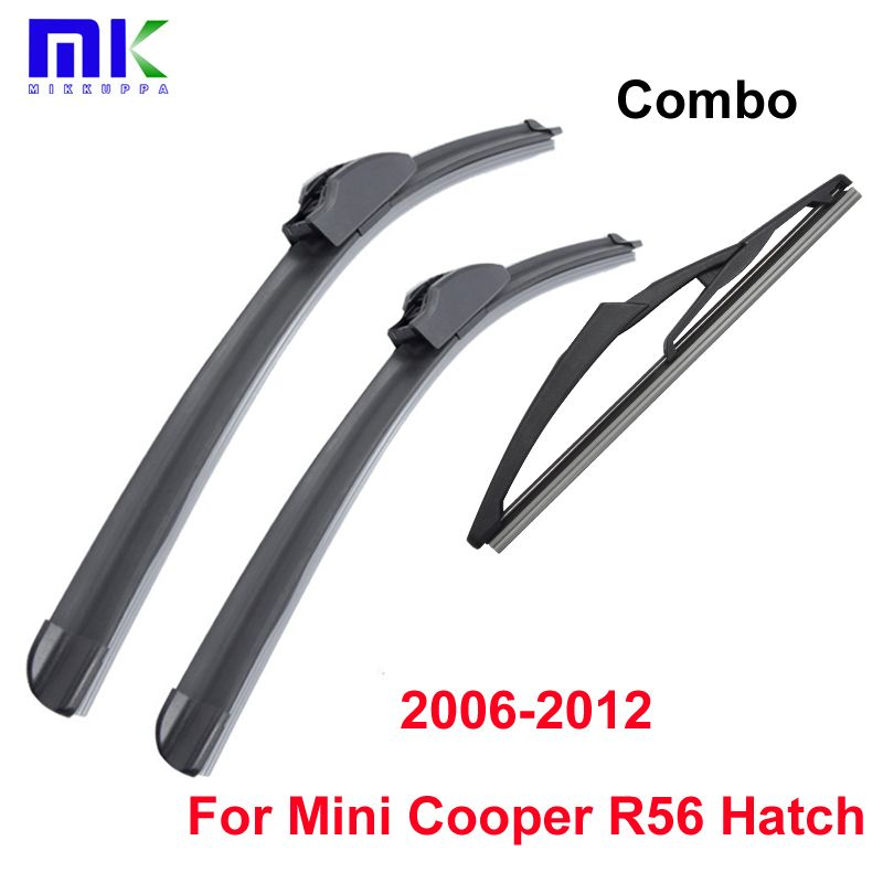 Combo Front And Rear Wiper Blades For Mini Cooper R56 Hatch 2006 2012 Silicone Rubber Windscreen Wipers Auto Car Car Accessories Windscreen Wipers Wiper Blades