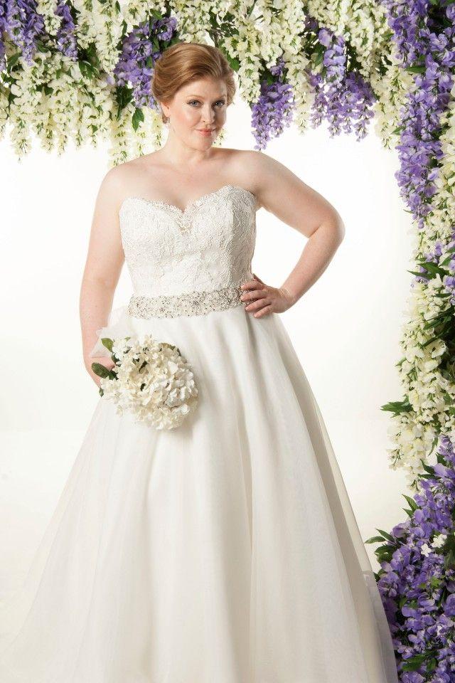 A Lineprincess Sweetheart Court Train Empire Plus Size Wedding