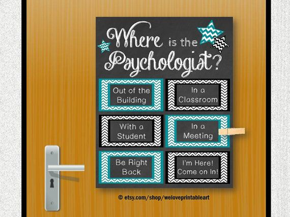 School Psychologist This Printable Sign Would Be Great For A