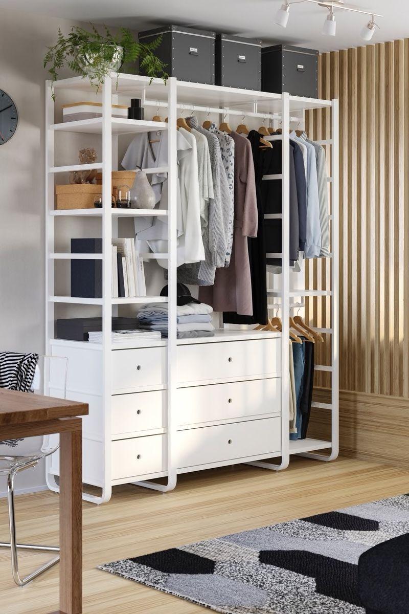 Flexibler Offener Kleiderschrank Idee Offener Kleiderschrank Ideen Offener Kleiderschrank Kleiderschrank Ideen