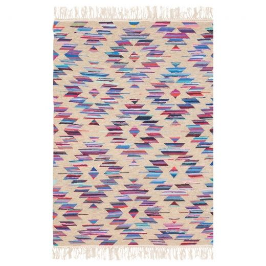 Cult Living Aztec Navajo Flat-Woven Kilim Rug, Multi-Coloured #aztec