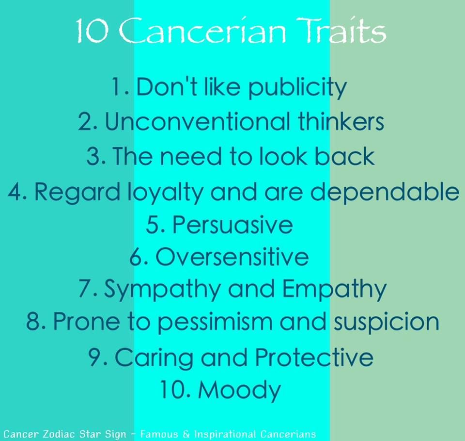 Cancer Zodiac Traits | Cancerian | Pinterest | Cancer ...