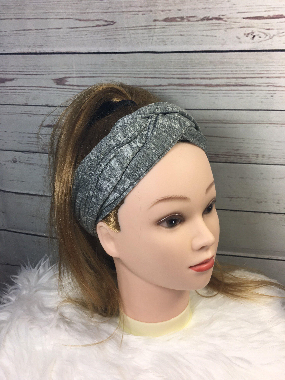 Gray Turban Headband 8a8f0d21b08