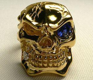 Skull Ring Solido Ouro 14k Diamond Pipes Gold Aesthetic Skull Jewelry Skull Rings