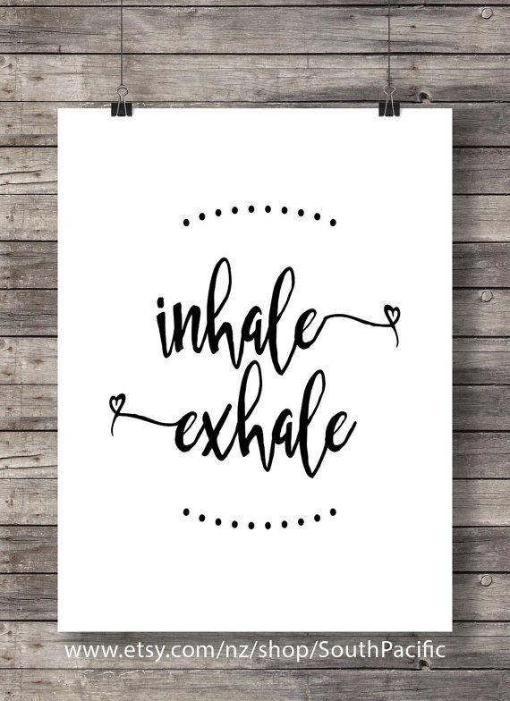Inhale exhale art print  Floral frame pattern art  Pilates art Printable  breathe art print  yoga wa #inhaleexhale