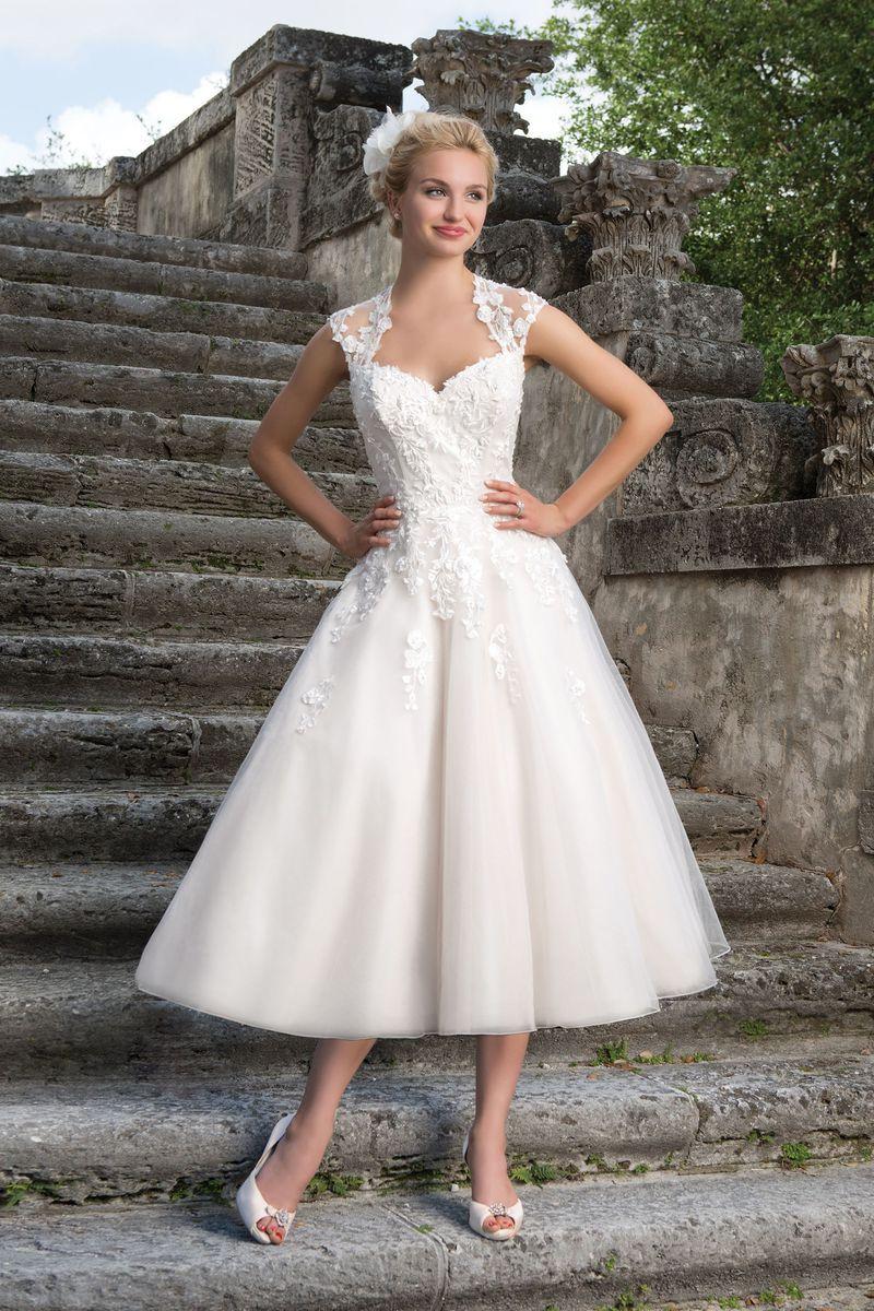 Sincerity Bridal - Style 3875: Kleid 3/4-Länge im Stil der 1950er ...