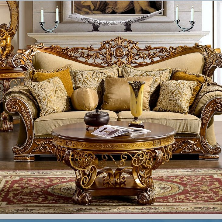 Traditional Sofas Living Room Furniture: Details About Formal Antique Style Luxury Sofa & Love Seat