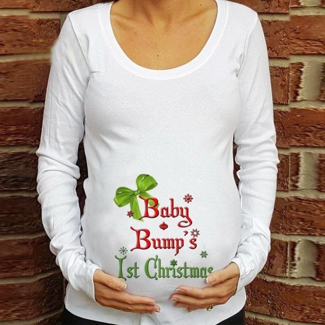 306488bbbef Baby Bump Maternity Christmas T-shirt - #gift #giftidea #home #office  #fashion #style #gadget #shopping #geek