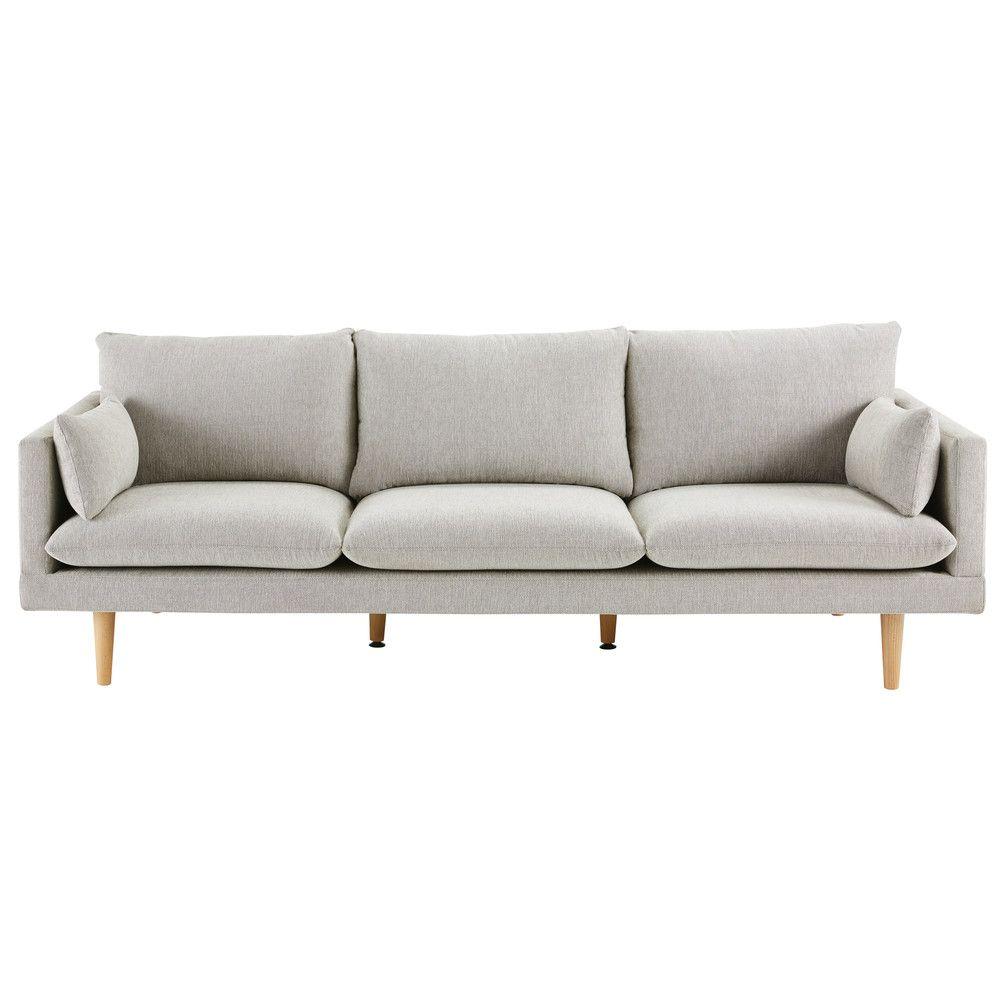 Canape 3 Places Gris Clair Sofa Grey 3 Seater Sofa 3 Seater Sofa