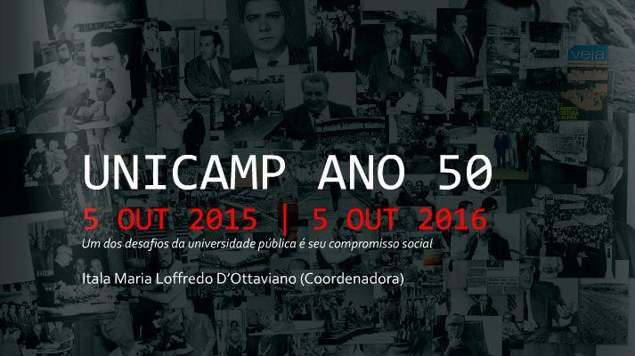 Apresentação dos eventos comemorativos dos 50 anos da Unicamp