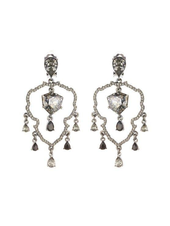 Swarovski Crystal Shield Chandelier Earrings