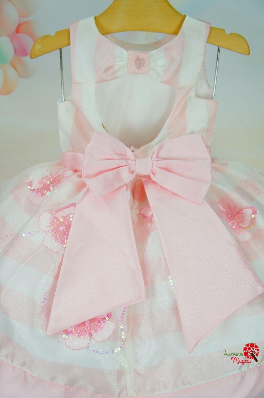 44fa32546 Vestido Infantil de Festa Petit Cherie Borboletas Bordadas | moda ...