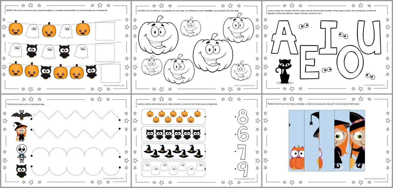 Cuaderno De Actividades De Preescolar Halloween Con Imagenes