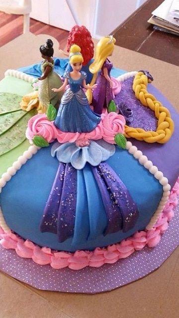Diseños Y Decorados Para Pasteles De Princesas Disney