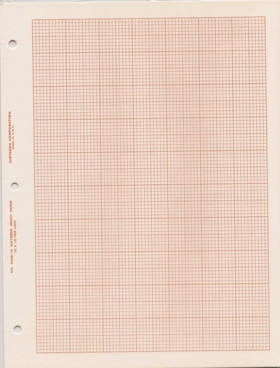 Square Grid Cross Section Graph Paper Dietzgen By Thegiddygrid 4 00 Graph Paper Simple Prints Graphing
