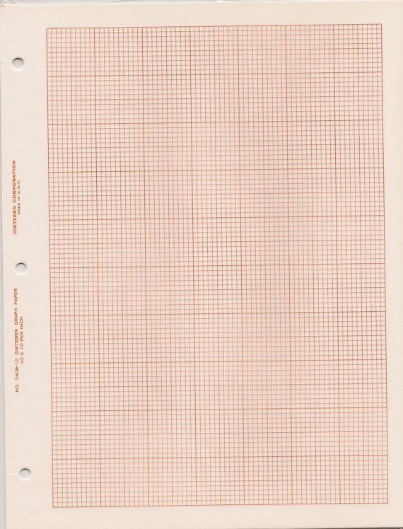 Square grid cross section graph paper, Dietzgen 340R-10, 10