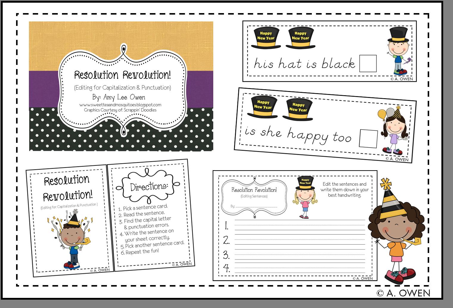 Resolution Revolution Sentence Editing