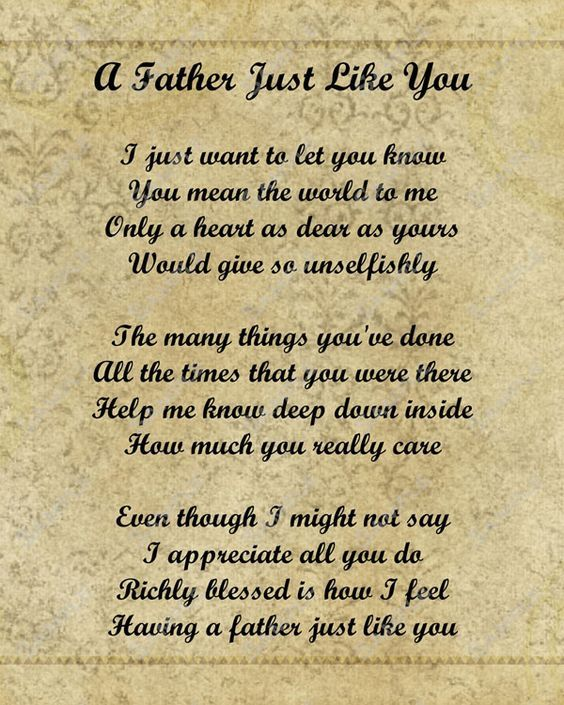 Fathers And Son Poems 7