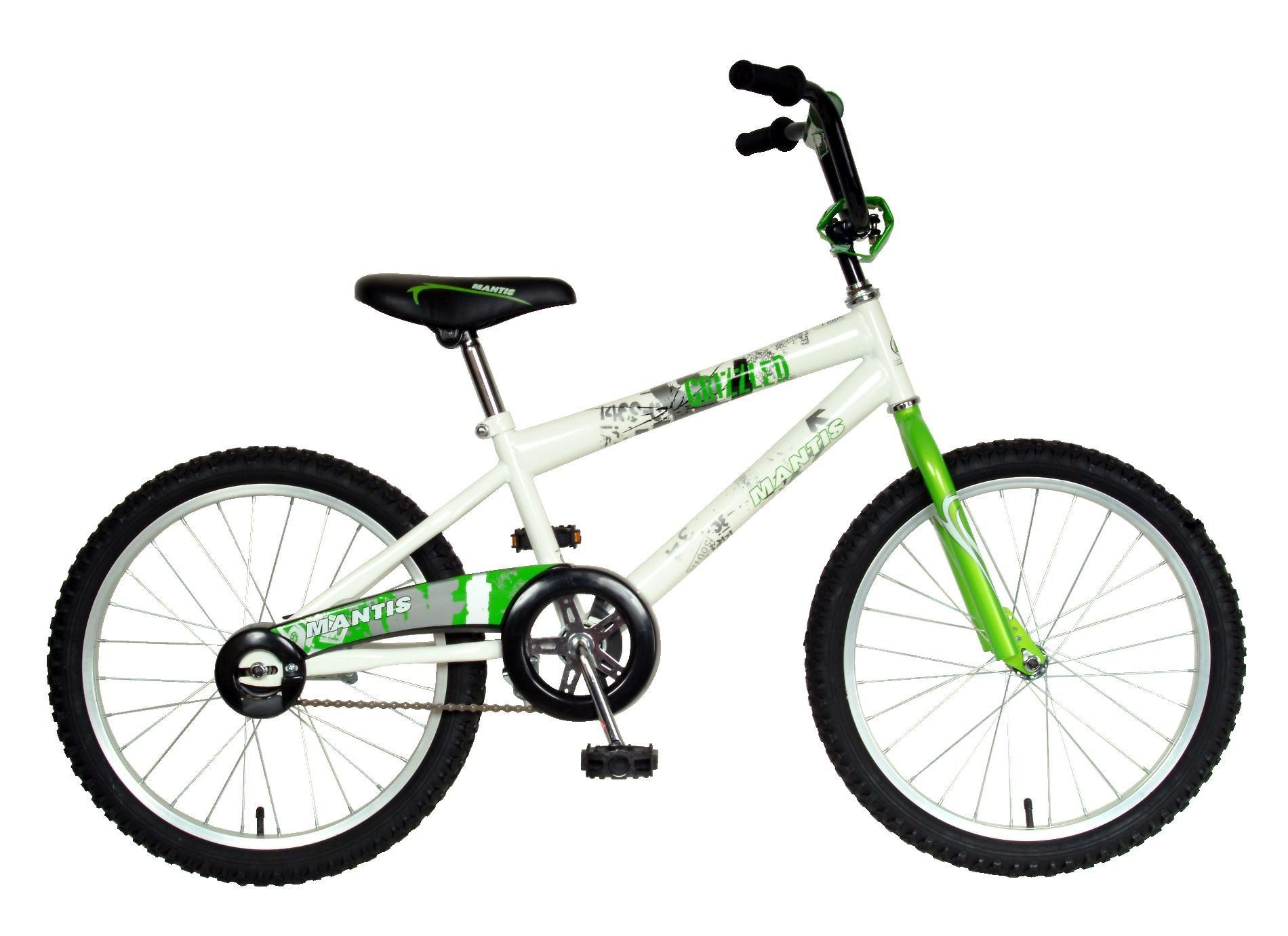Mantis 64220 20 Boy S Grizzled Bmx Bike White Green Boy Bike