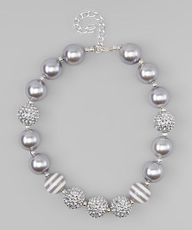 Look at this #zulilyfind! Silvertone Bell Chunky Beaded Necklace #zulilyfinds