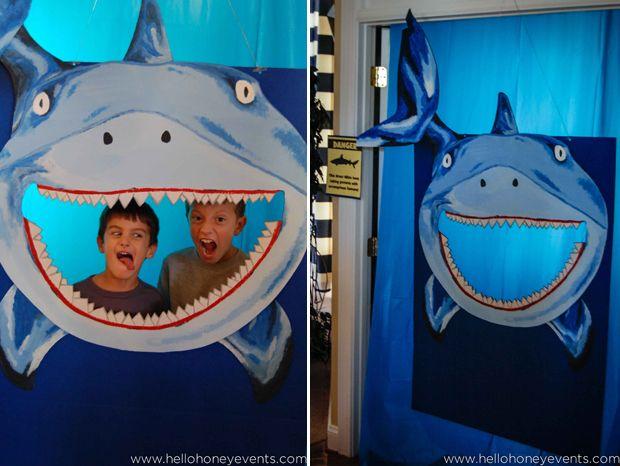 Shark Photo Opp Photo Booth Shark Party Fish Under