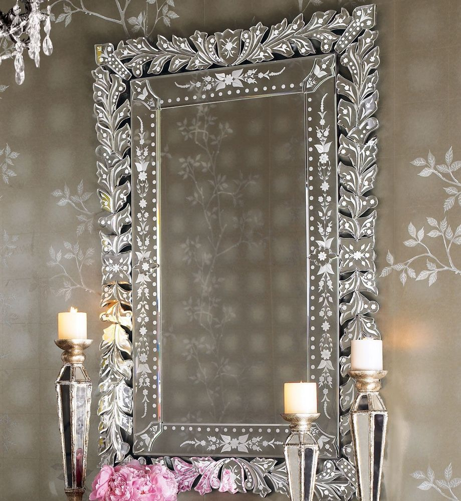 New horchow neiman marcus marta venetian glass wall mirror french new horchow neiman marcus marta venetian glass wall mirror french rococo etched glass traditional amipublicfo Images