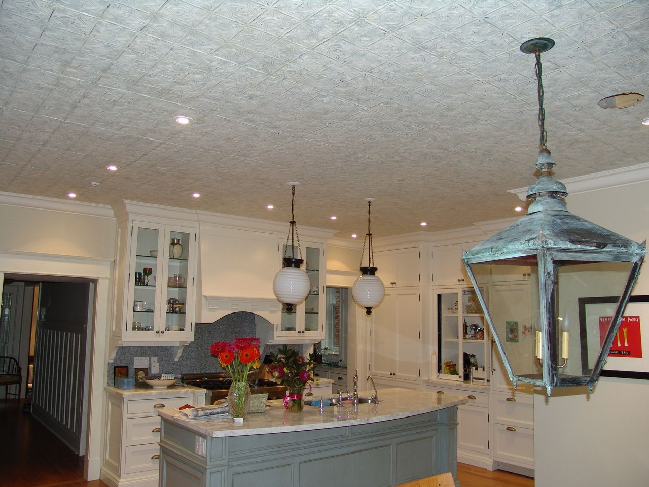 Tin look ceiling tile gallery tile flooring design ideas tin look ceiling kitchen dining google search ceiling tin look ceiling kitchen dining google search doublecrazyfo dailygadgetfo Images