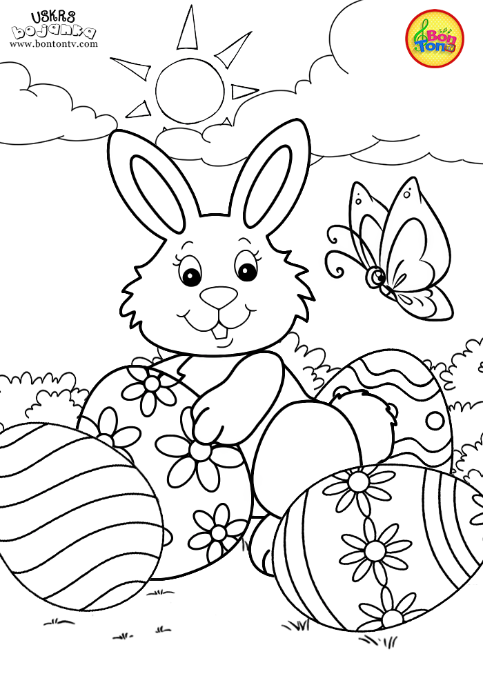 Easter Coloring Pages Uskrs Bojanke Za Djecu Free Printables Rhpinterest: Easter Bunny And Eggs Coloring Pages At Baymontmadison.com