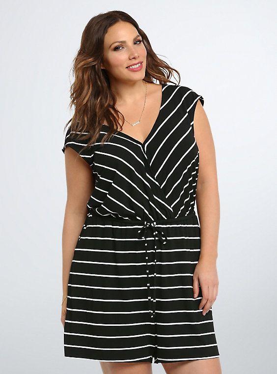 a4b60488eed Striped Jersey Romper