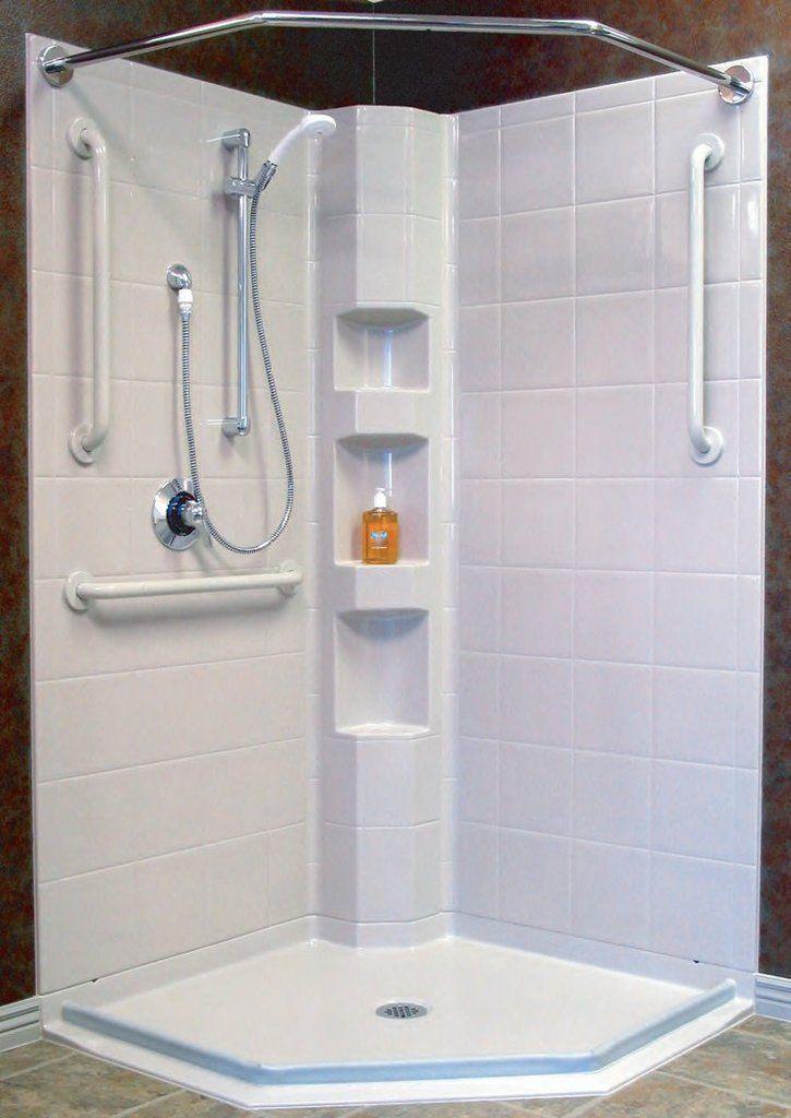 42 X 42 Corner Shower Stall Multi Piece Neo Angle Shower Stall