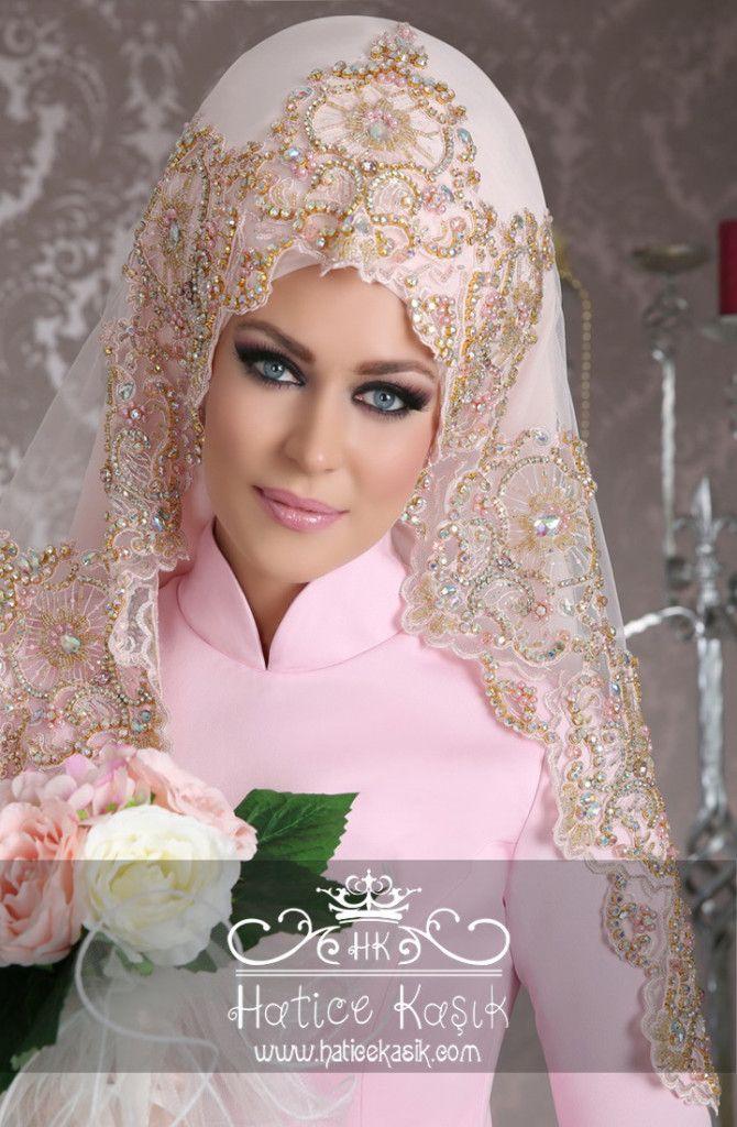 Hatice Kaşık 2015 Tesettür Gelin Başı Tasarımları | hijabs & burkha ...