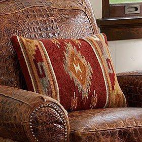 Zapotec Woven Pillow Rustic Home Decor Pinterest