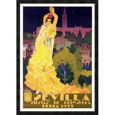 Global Gallery 'Sevilla / Fiestas de Primavera' by Enrique Estela-Anto Framed Vintage Advertisement #preguntassevilla