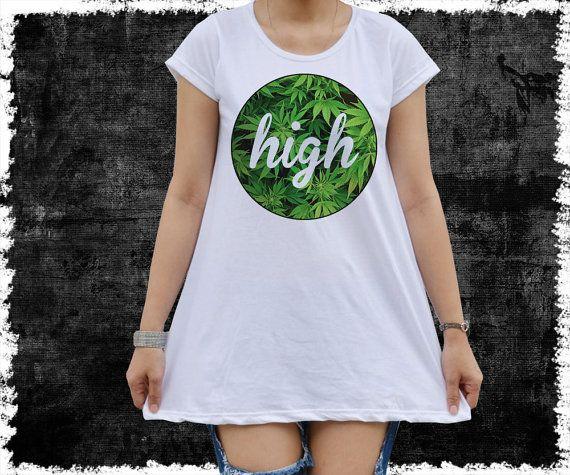 Dope shirt Weed smoking Kush cannabis high  women's Mini by vezaa