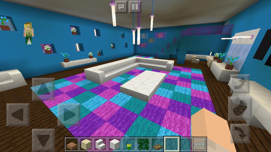 minecraft survival, modern house, interior, loft master ... |Minecraft Mansion Inside Bedroom