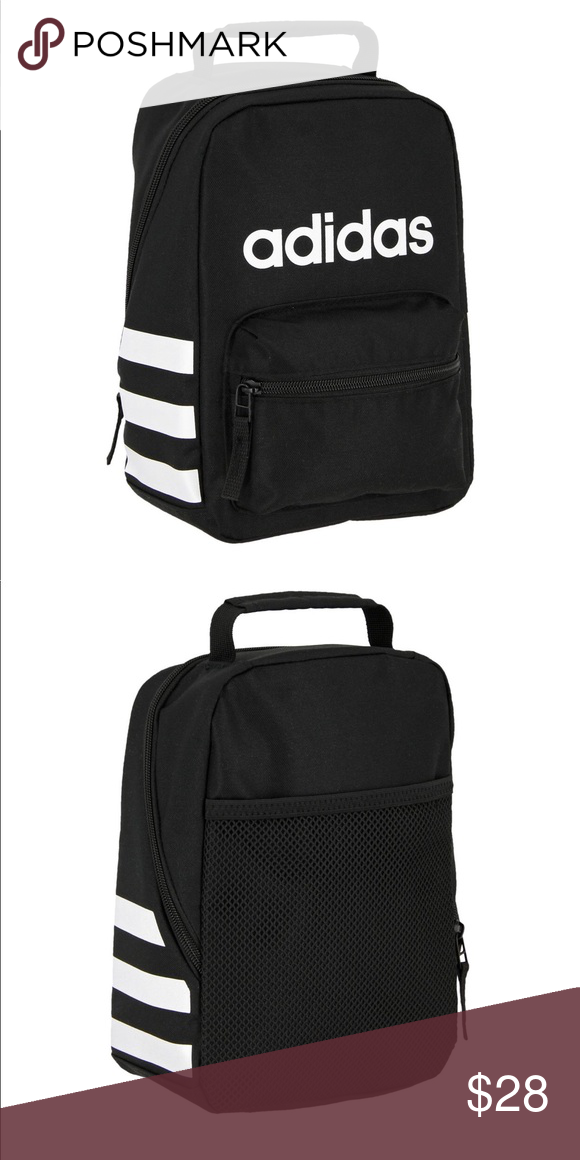63e926a88c3 New adidas little lunch bag Classic Black/white New with tag Tote your lunch  in style with the adidas® Santiago Lunch Kit. The spacious, insulated main  zip ...