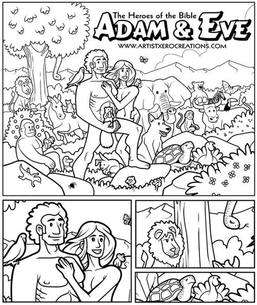 adam eve coloring page the squirrels position is unfortunately awkward - Garden Of Eden Coloring Page