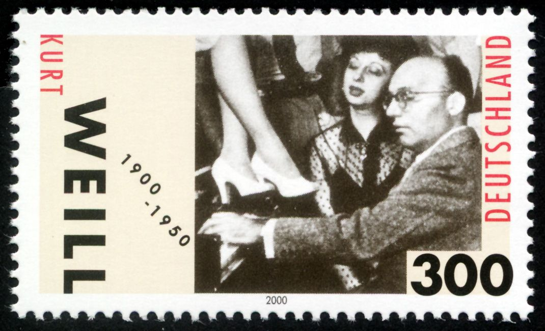 Stamp Germany 2000 Minr2100 Kurt Weill Kurt Weill Wikipedia German Stamps Stamp Germany
