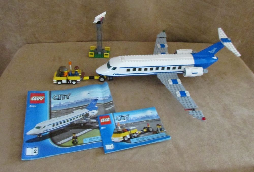 3181 Lego World City Passenger Plane Complete Instructions Town