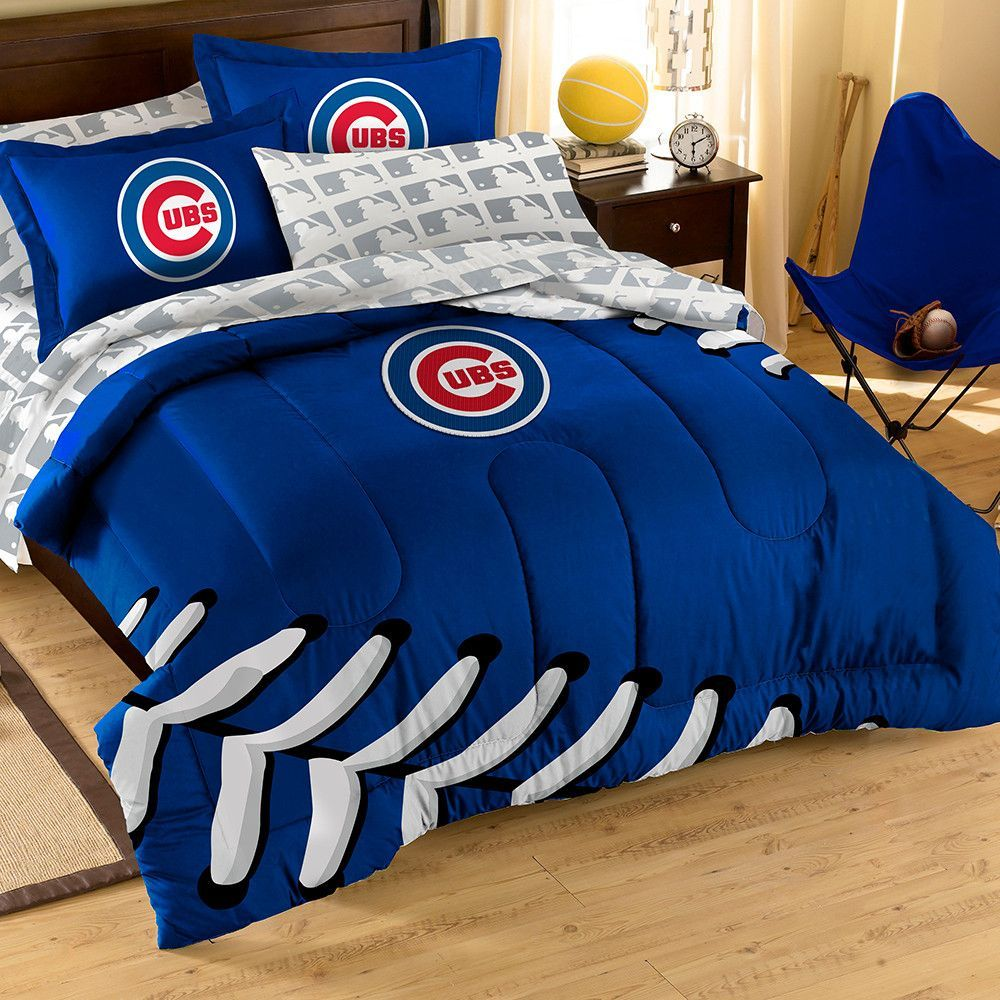 Chicago Cubs Mlb Embroidered Comforter Set Twin Full 64