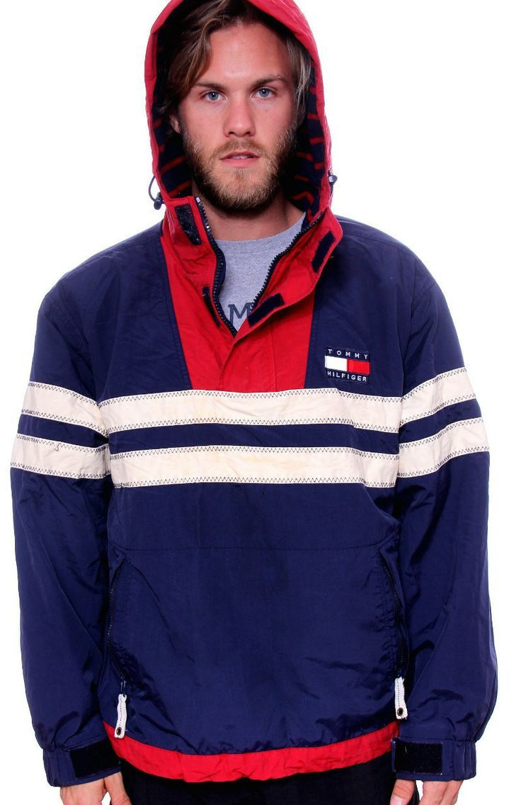 9e1ead67035 Vintage Tommy Hilfiger Colourblock Competition Hoodie Jacket - Gents ...